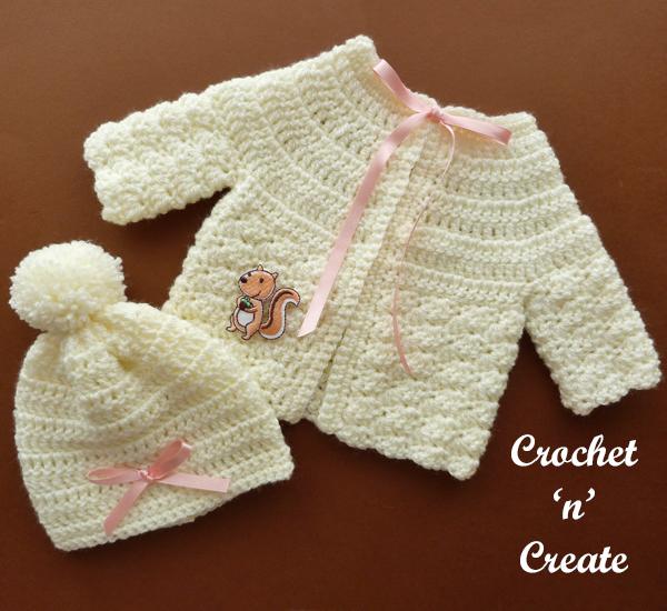 crochet preemie cardigan-hat