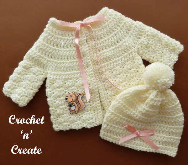 preemie cardi and hat