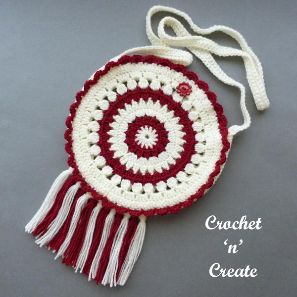 crochet round boho bag