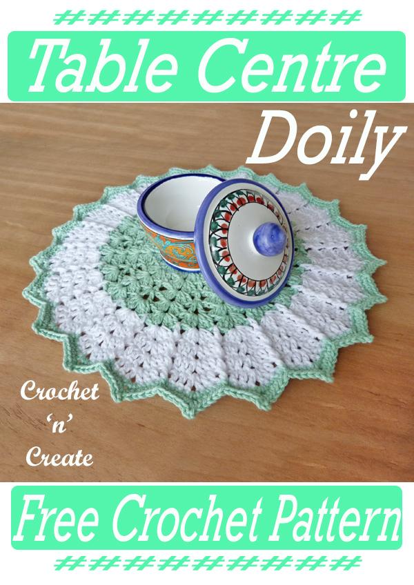 crochet table centre doily pattern
