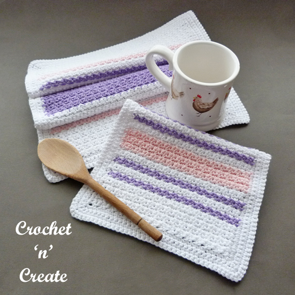 crochet teatowel-dishcloth pattern