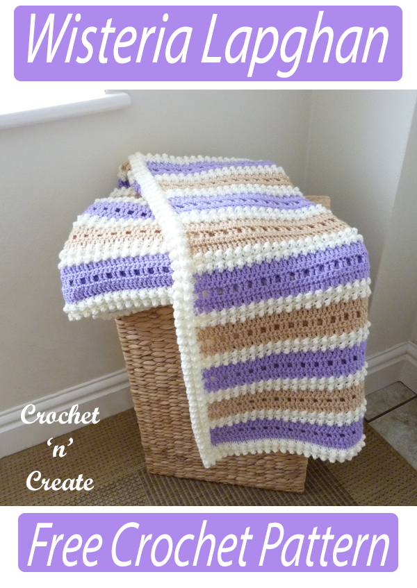 crochet wisteria lapghan pattern