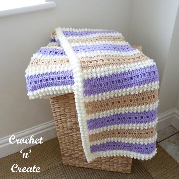 crochet wisteria lapghan blanket