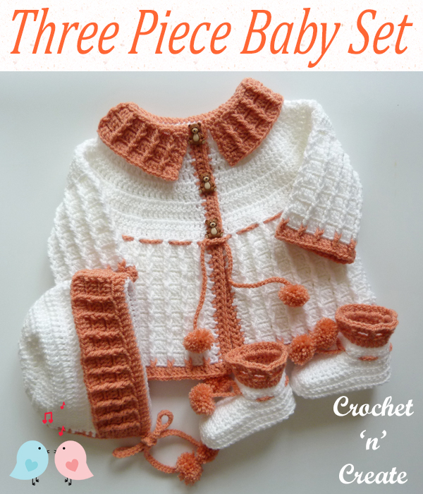 three piece baby set