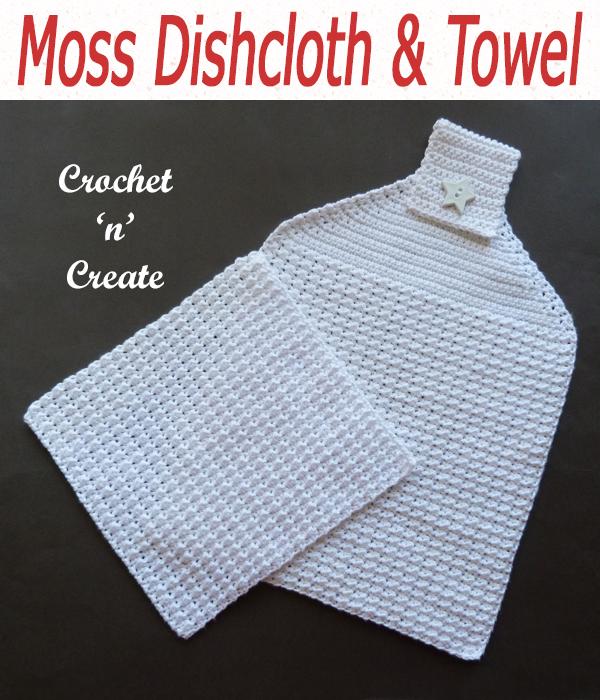 moss dishcloth & towel