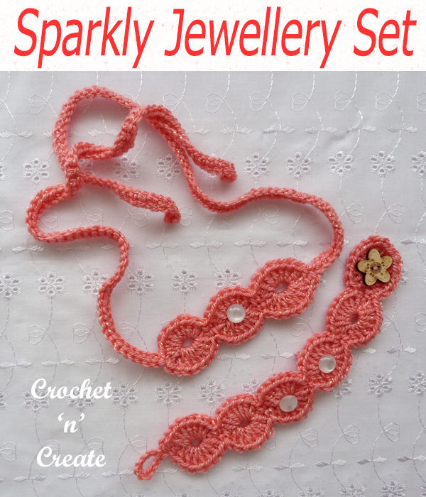 sparkly jewellery set