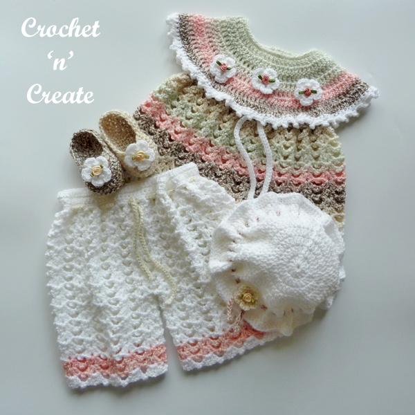 crochet angel top set