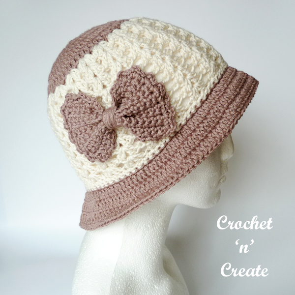 crochet brimmed summer hat pattern