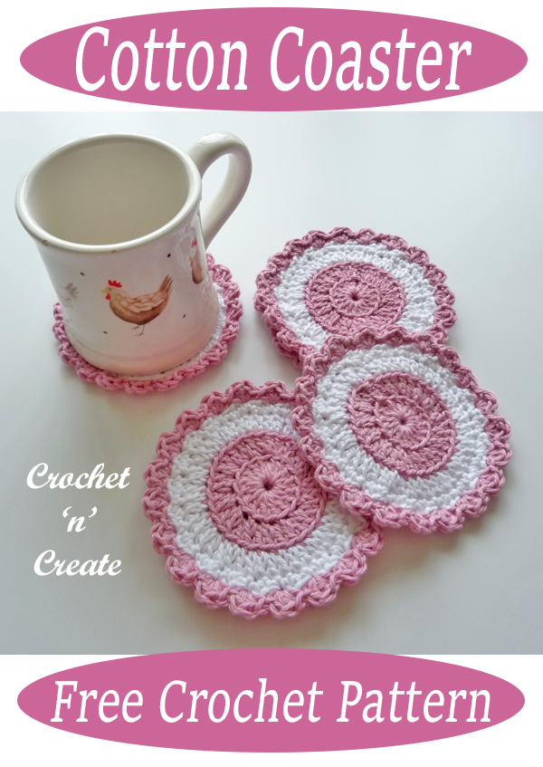 crochet cotton coaster patterns