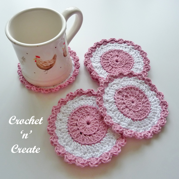 crochet cotton coaster pattern