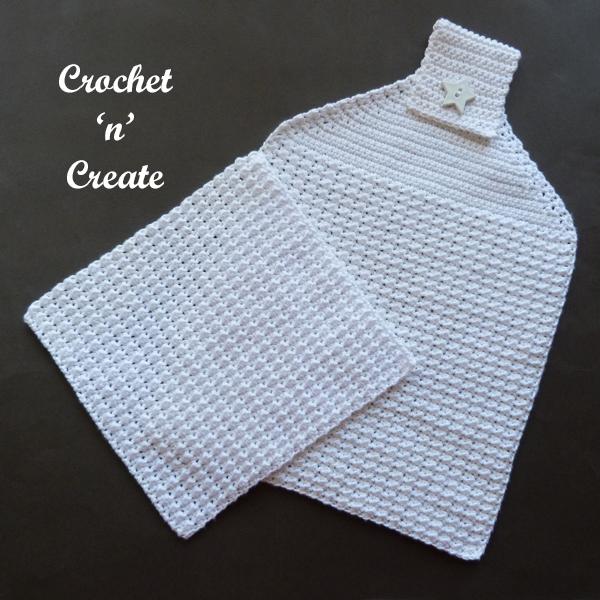 crochet moss dishcloth-towel pattern