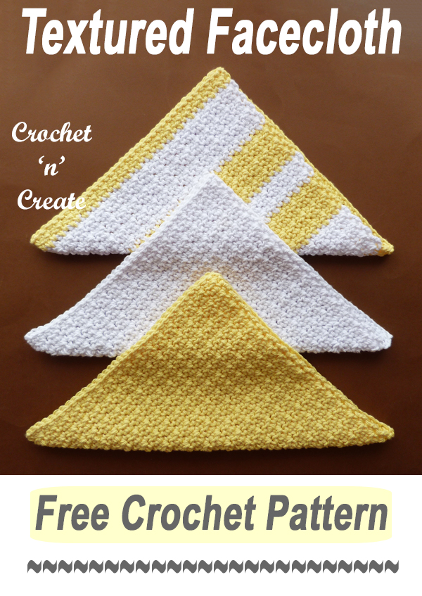 easy textured facecloth