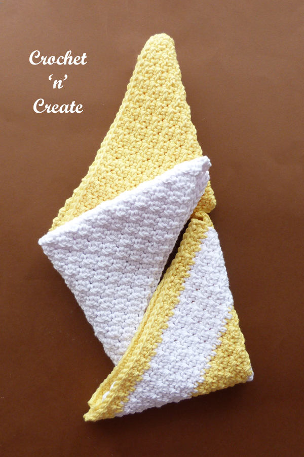 diamond textured facecloth
