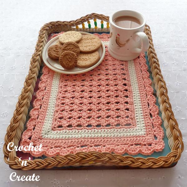 crochet tray cloth pattern