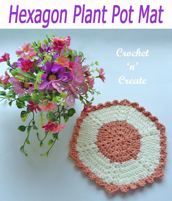 hexagon plant pot mat