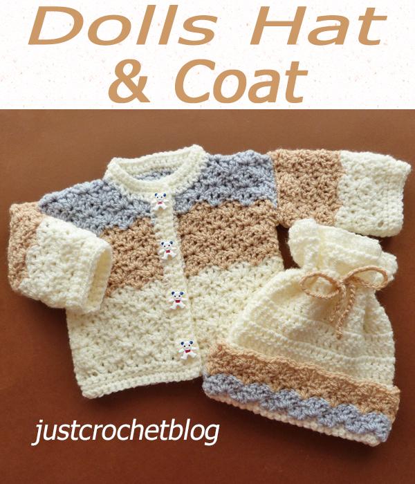 preemie baby-dolls hat and coat