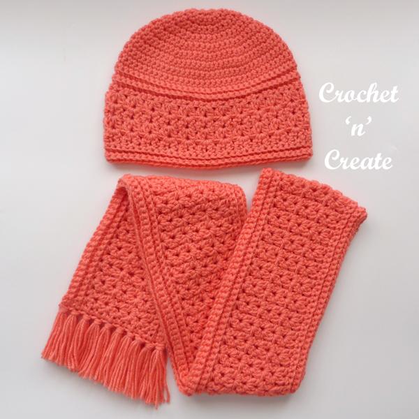 zig-zag scarf-hat