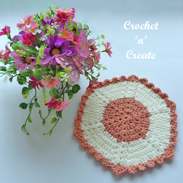 hexagon plant pot mat