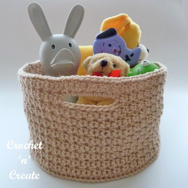 crochet organizer basket pattern