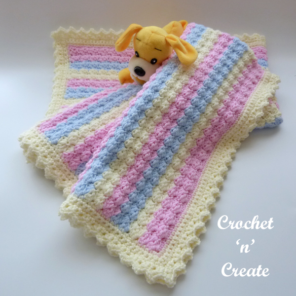 crochet pastel baby cover