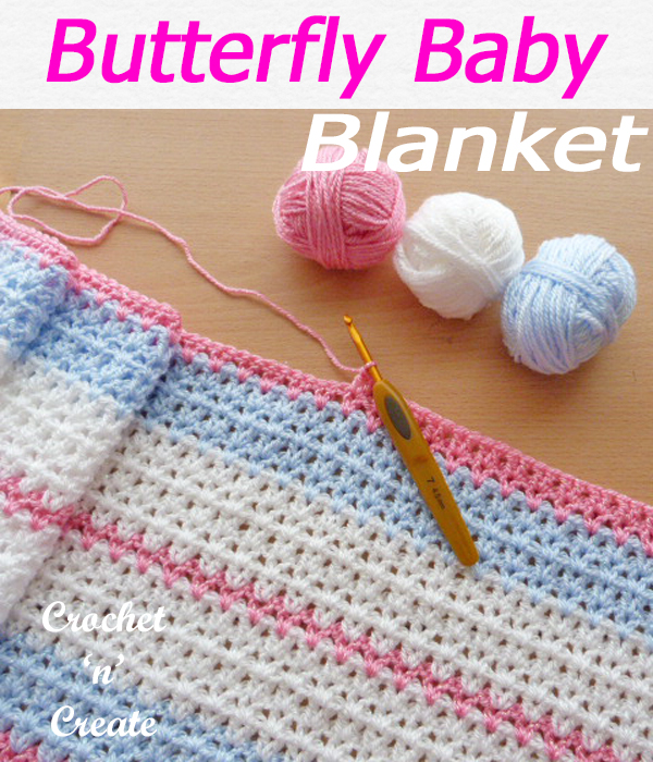 butterfly baby blanket