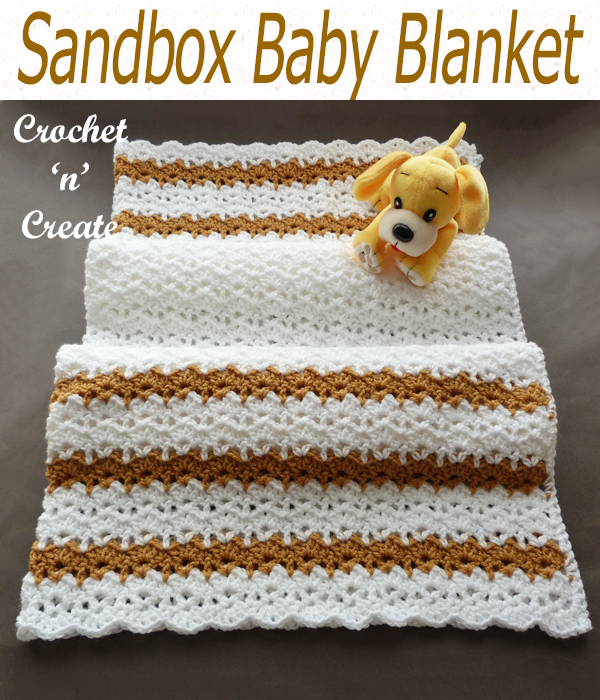sandbox baby blanket