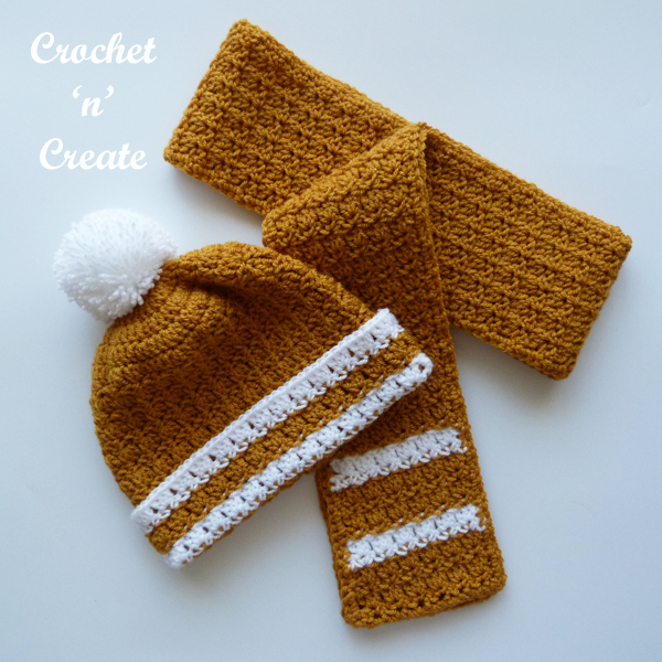 anywhere crochet scarf-hat
