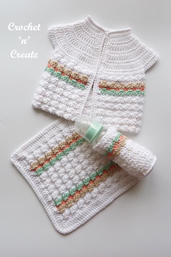 crochet baby gift set