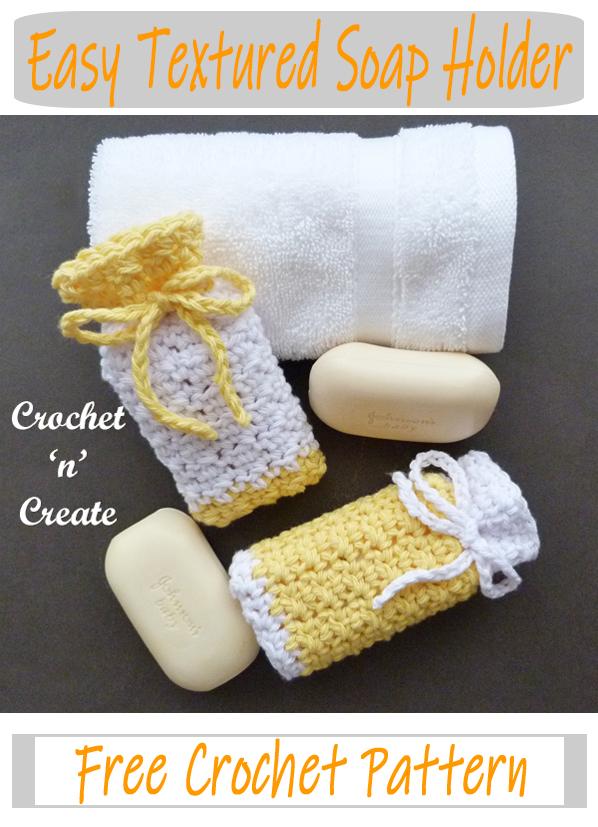 crochet easy textured soap holder