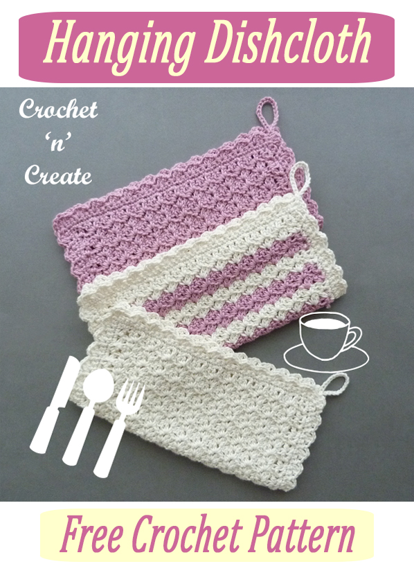 crochet hanging dishcloth pattern