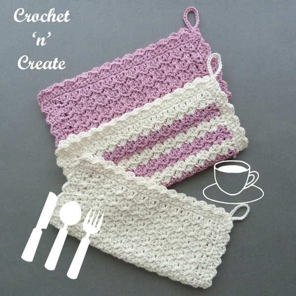hanging crochet dishcloth pattern