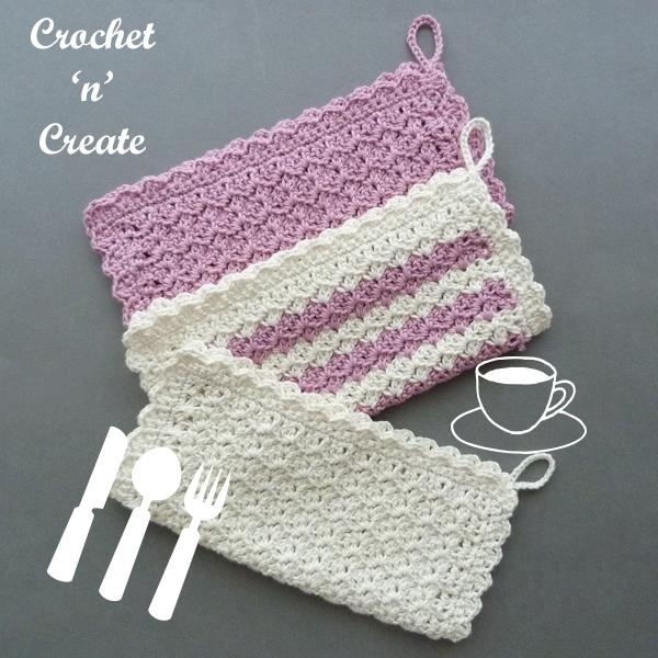 hanging crochet dishcloth pattern