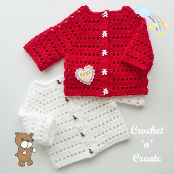 newborn crochet baby cardigan