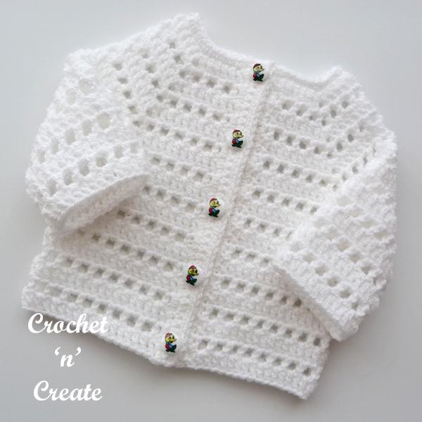 white cardi