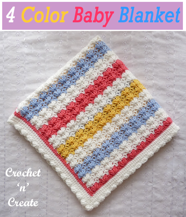 4 colour baby blanket