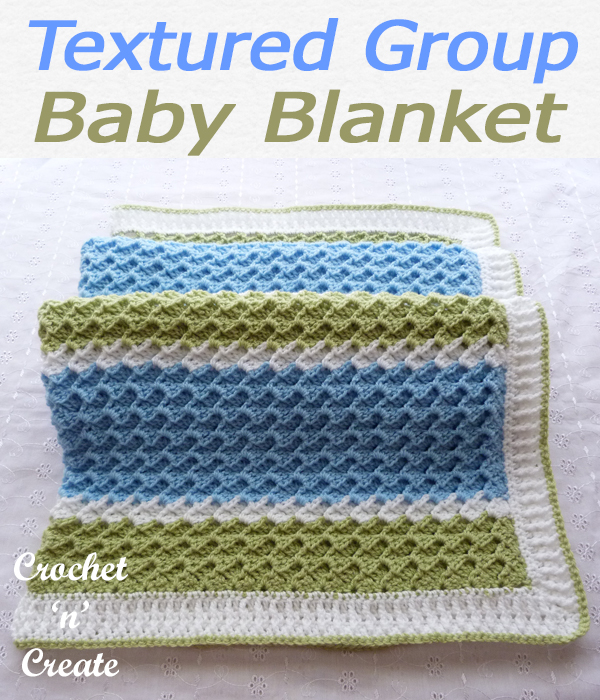 textued group baby blanket