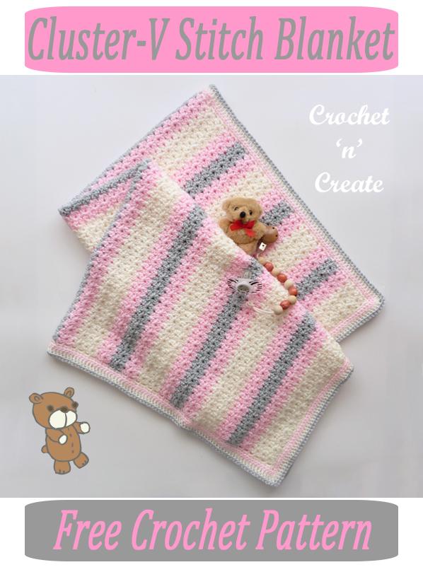 cluster-v crochet blanket pattern
