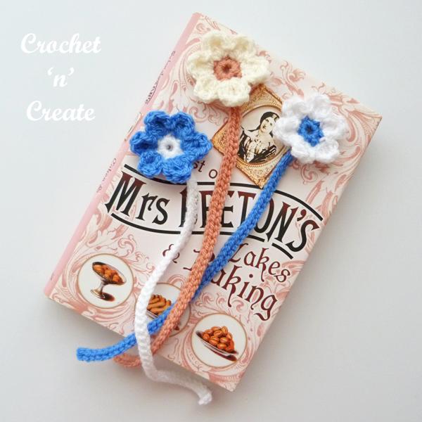 crochet flower bookmark pattern