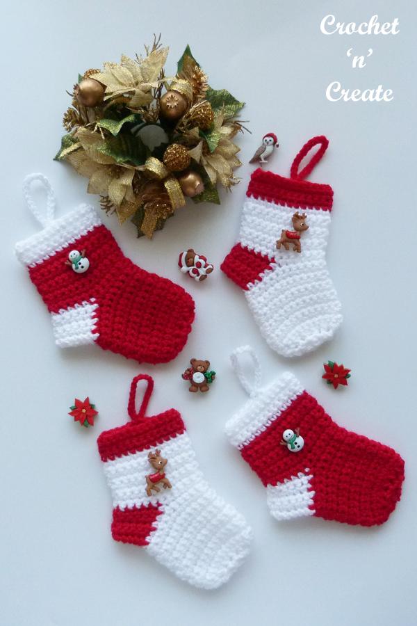 four mini socks