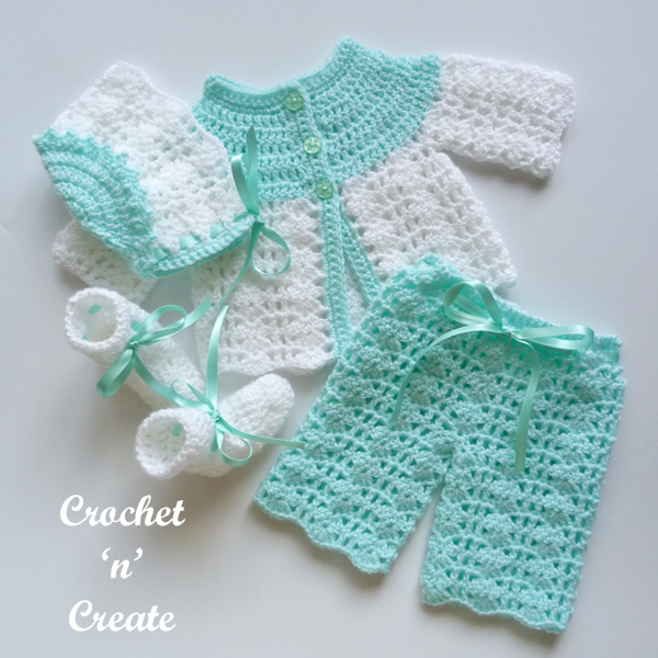 crochet premature baby outfit