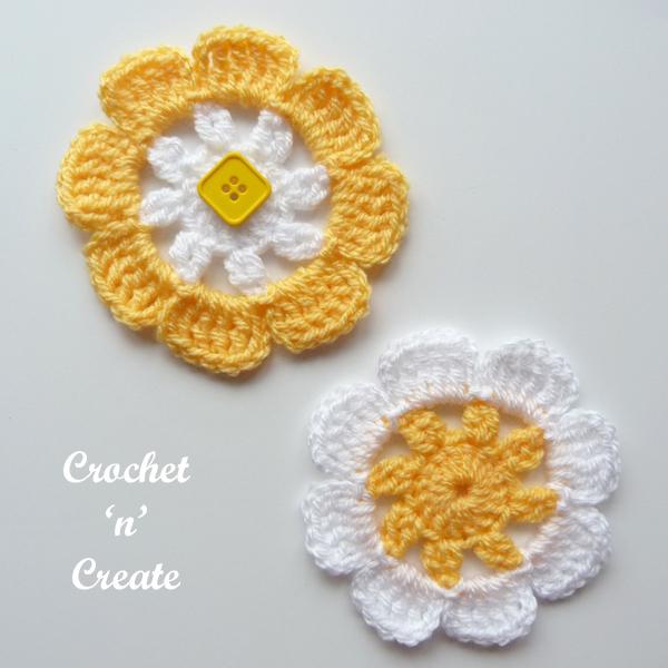 crochet blooming flower pattern