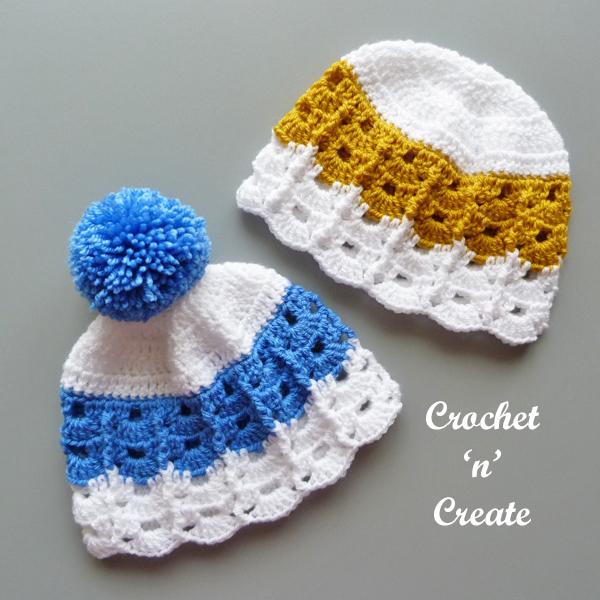 crochet cute baby beanie