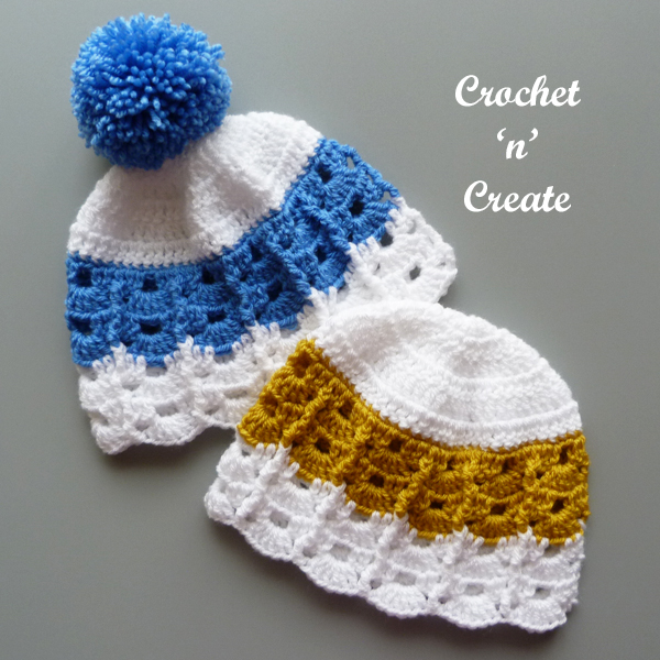 two infant hats