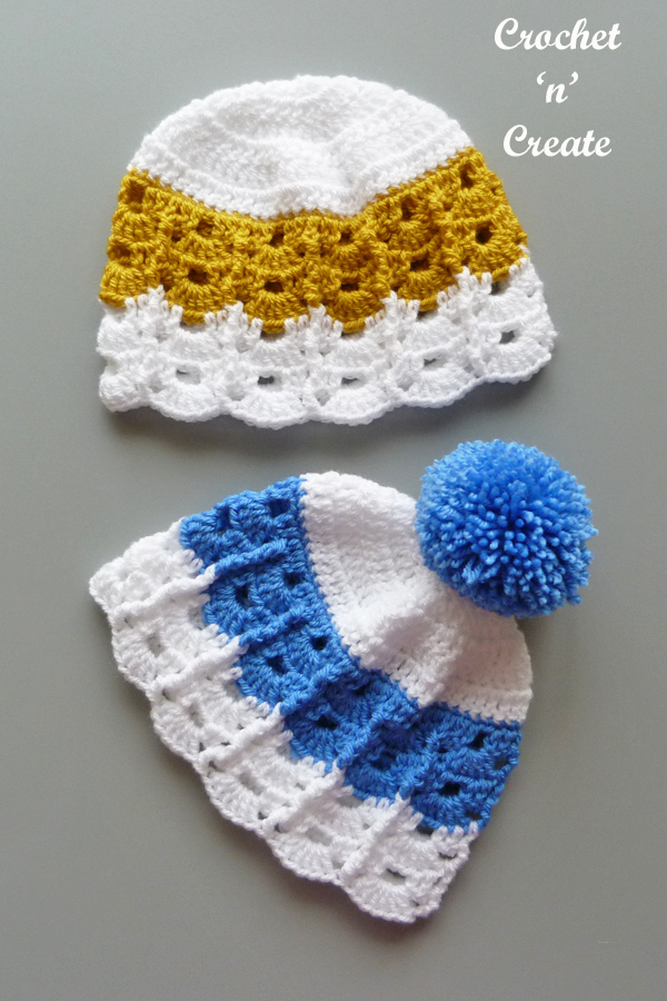Blue-gold hats long