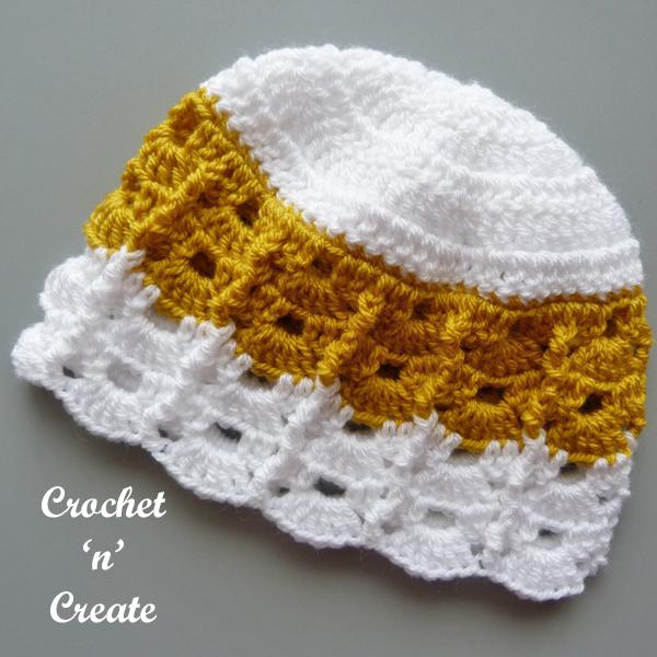 gold baby hat