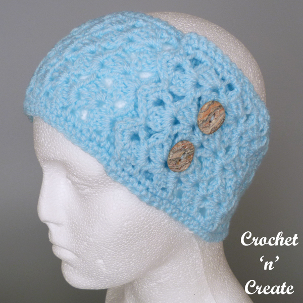 crochet earwarmer headband pattern