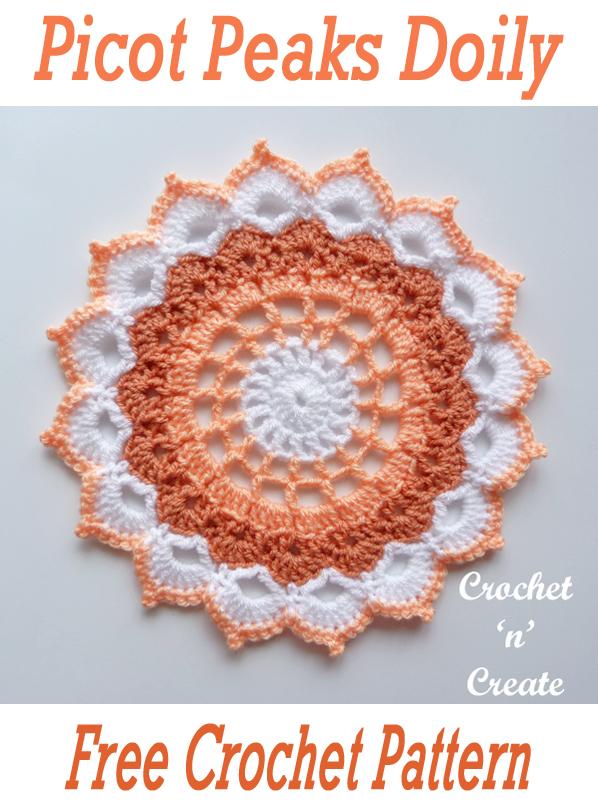 picot peaks crochet doily