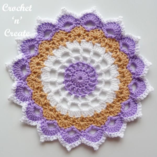 single lilac doily