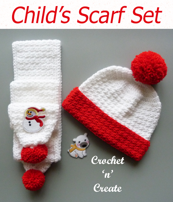childs scarf set