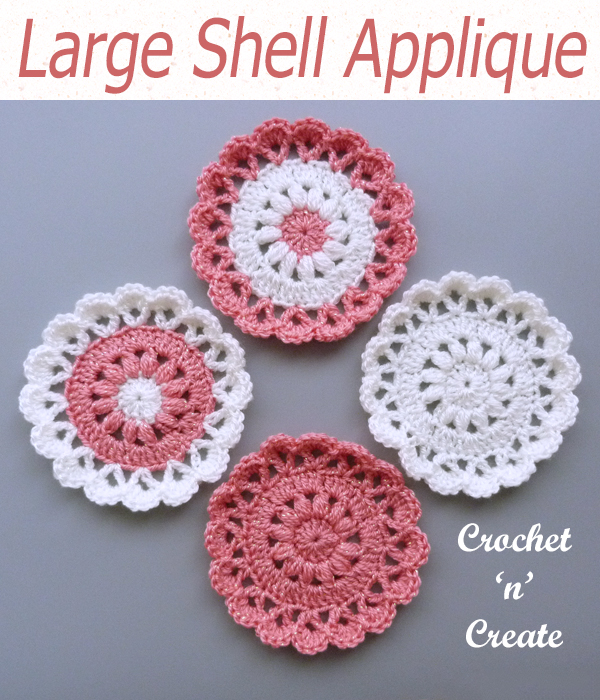 large shell applique